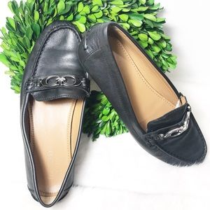 Coach women's Black leather loafers size 7.5B